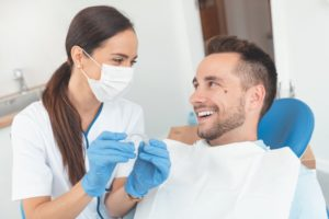 man at a consultation for Invisalign in Glenpool